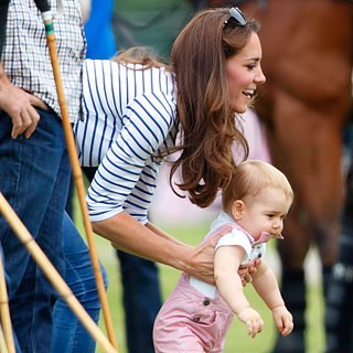 "The Duchess of Cambridge and Prince George Wear Matching Outfits and Play ""Monster"" at the Park"