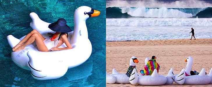 Proof the Inflatable Pool Swan Is the Coolest Summer Accessory