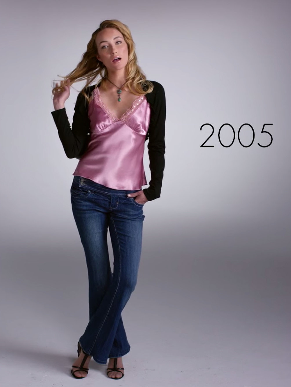 2005 | Watch 1 Woman Wear 100 Years of Fashion Trends in 2 ...
