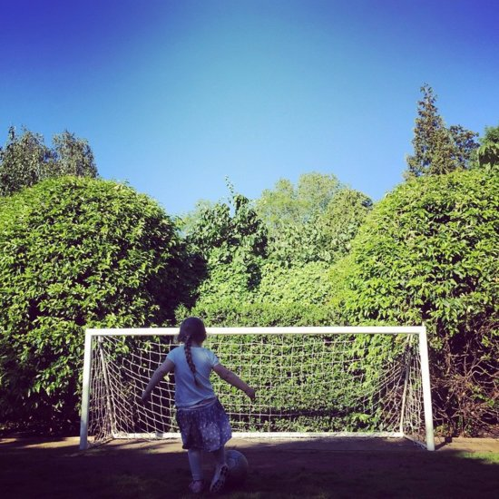 Harper Beckham Soccer Instagram Photo