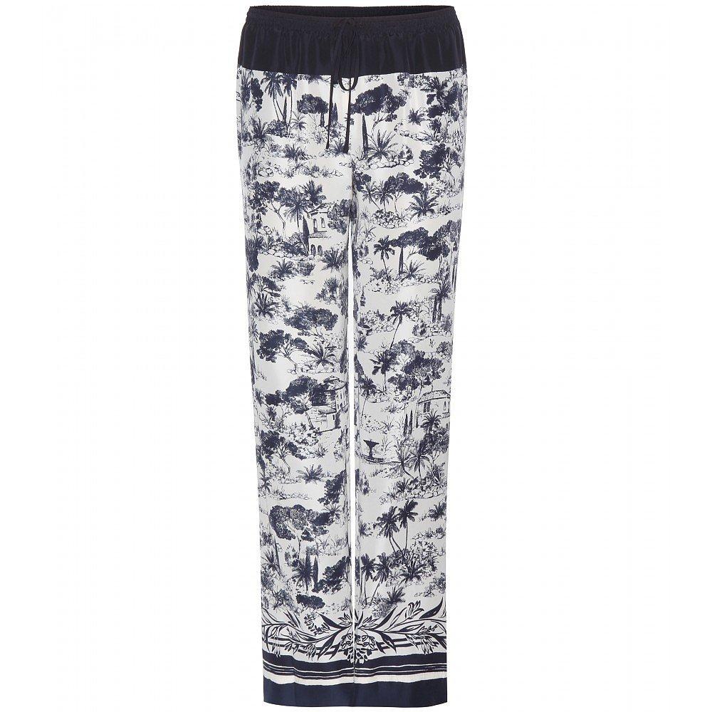 Tory Burch Printed silk trousers ($434)