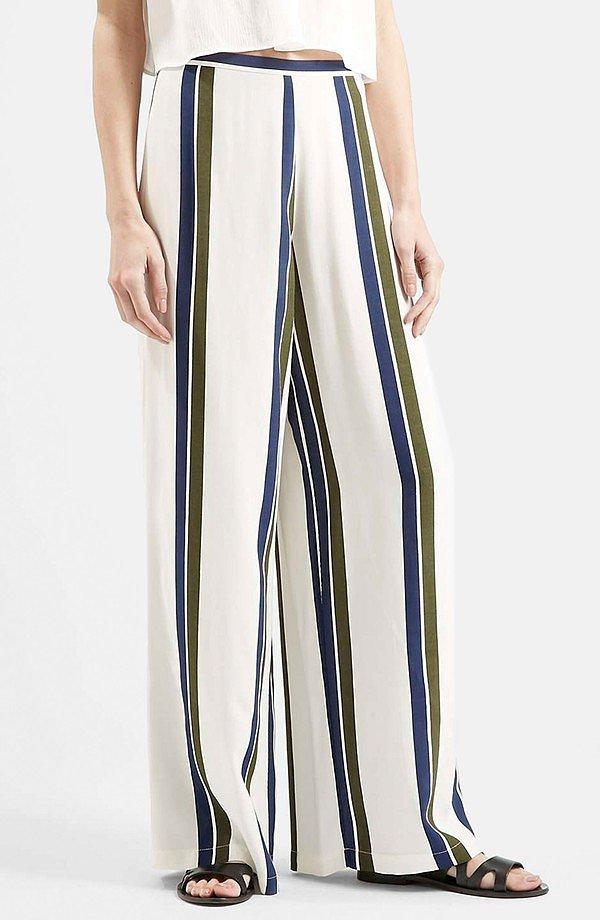 Topshop Wide Leg Stripe Trousers ($70)