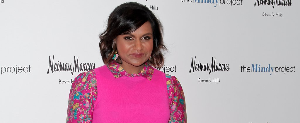 Mindy Kaling Wears Pink From Head to Toe