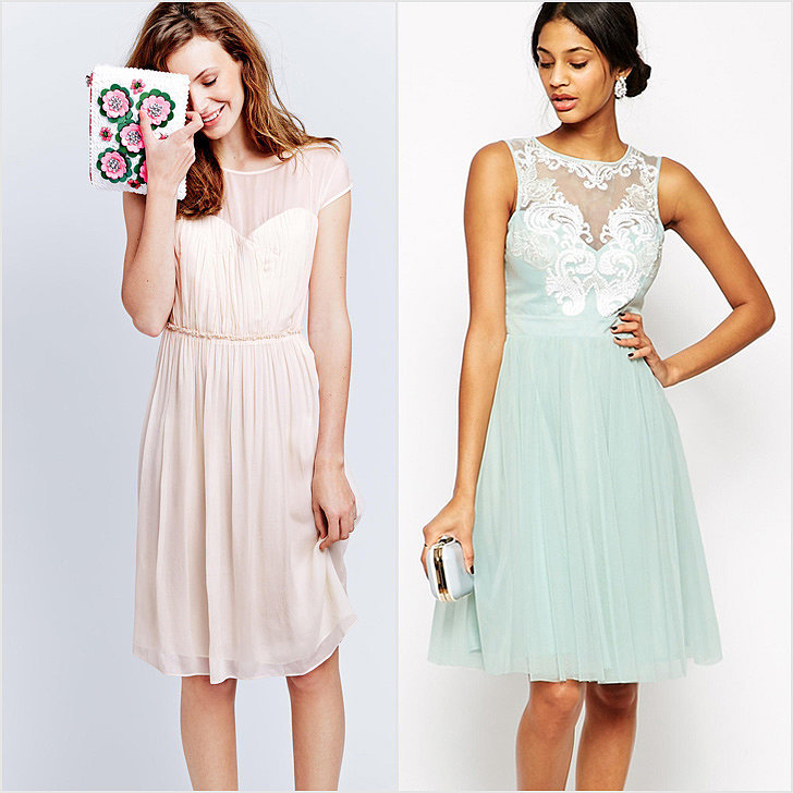 Boden While the label only has a few styles of bridesmaid dresses, they're good — and if they check all the boxes for what you're specifically searching for, it'll feel like a match made in heaven. This light and flowing style ($158) comes in three colors. ASOS Whenever we're on the hunt for something specific, online giant ASOS is typically one of our first stops. With a merchandise range that's broader than broad, it makes sense that their cocktail dress section would include plenty of polished picks, like this elegant mint green number ($217), that would work for a bridal party.  Target Out of our top five favorite stores in the world, Target has to rank right up there. It's typically got the solution to many a retail problem, and, happily, it now also stocks simple, wedding-worthy dresses in an online section totally dedicated to bridesmaids.