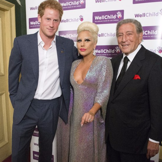 Prince Harry and Lady Gaga at the WellChild Gala in London