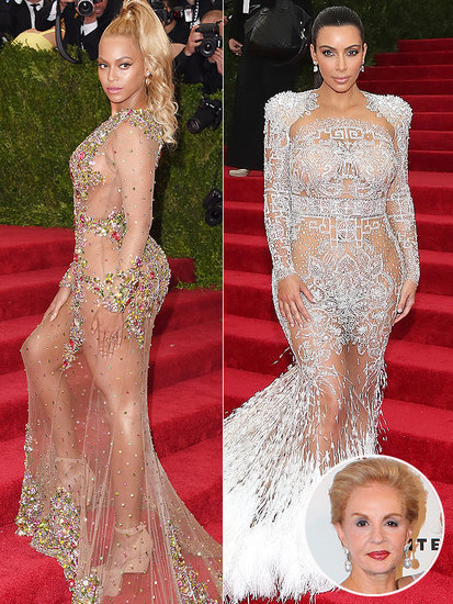 Carolina Herrera on Beyoncé and Kim Kardashian's Naked Met Gala Gowns: There Should Be a Little Mystery
