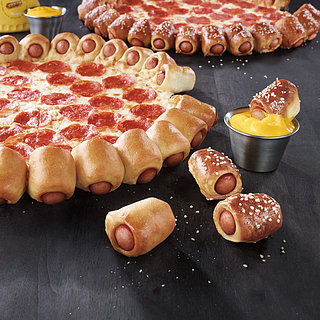 Pizza Hut Hot Dog Bites Pizza
