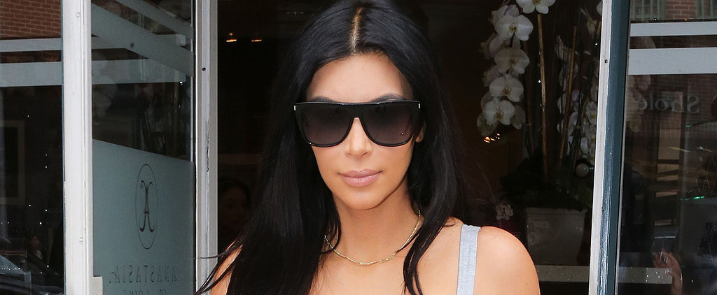 Pregnant Kim Kardashian Shows Off Her Physique on a Shopping Trip