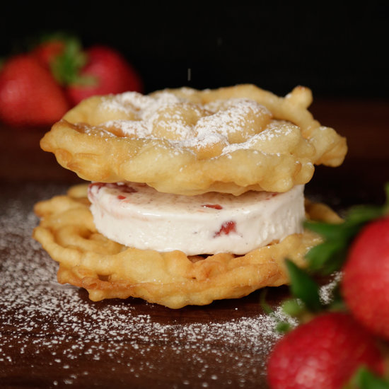 Funnel Cake Ice Cream Sandwich Recipe