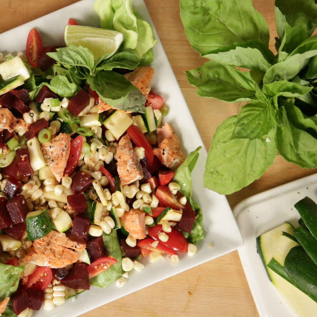 The Ivy's Grilled Vegetable and Salmon Salad