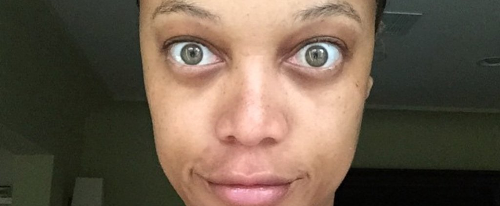 Tyra Banks Goes Completely Makeup Free