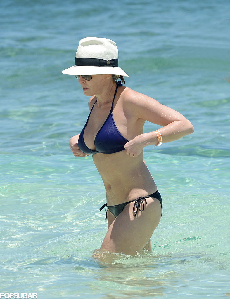 Chelsea Handler took a dip during her May vacation in the Bahamas.
