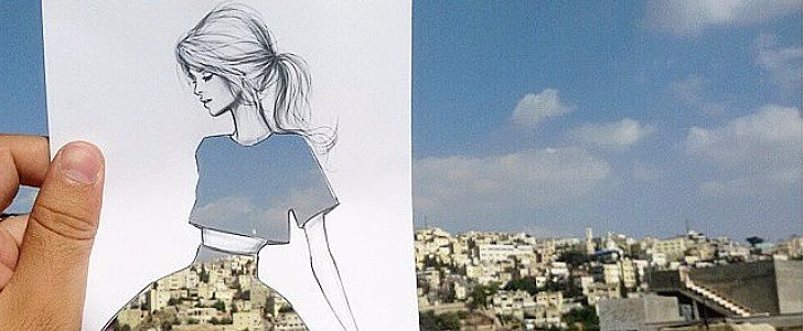 These Fashion Sketches Use the World as Their Backdrop —and the Results Are Stunning