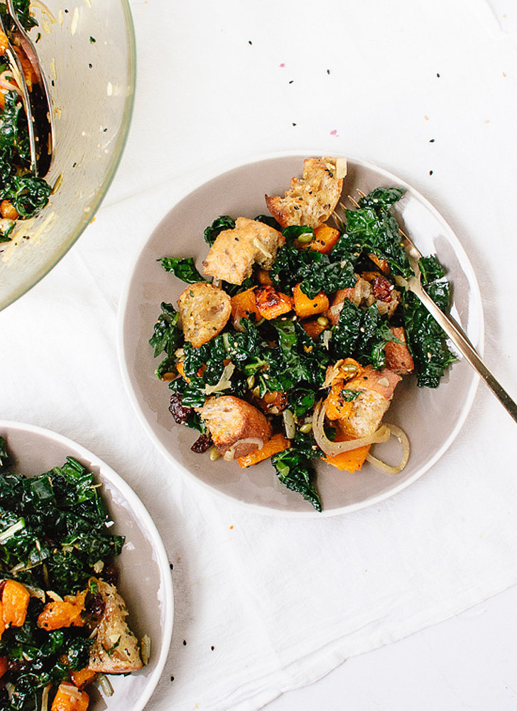 Balsamic Butternut, Kale, and Cranberry Panzanella