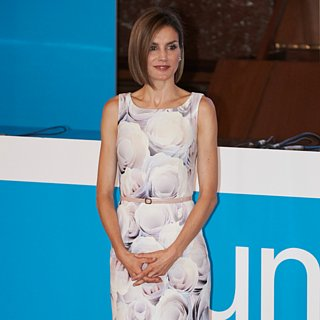 Queen Letizia Wearing Prints