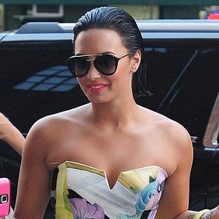 Demi Lovato's Floral Jumpsuit Look