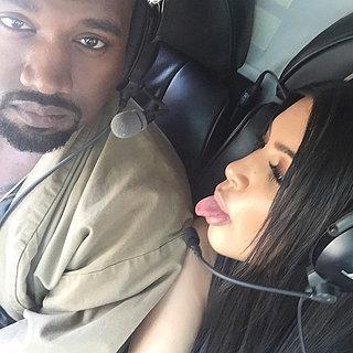 Pregnant Kim Kardashian Takes a Whirlwind Trip With Kanye West