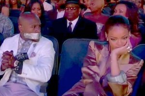 Rihanna Duct-Taped Floyd Mayweather's Mouth Shut At The BET Awards
