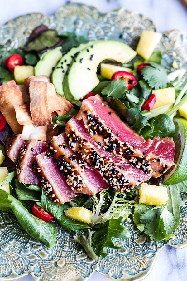 Seared Ahi Tuna Poke Salad