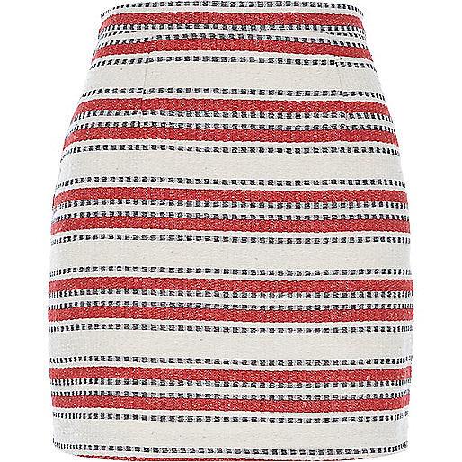 River Island Striped Miniskirt