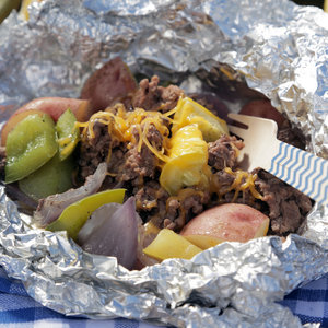 Beef, Corn, and Potato Hobo Packs Recipe