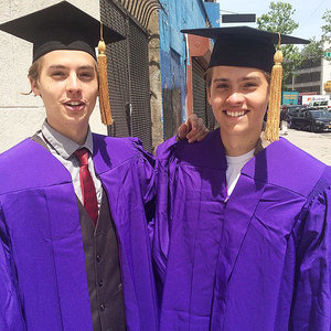 Dylan and Cole Sprouse Pulled the Ultimate Switcheroo at Their College Graduation