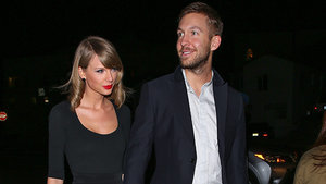 Taylor Swift Gets a Piggy Back Ride From Boyfriend Calvin Harris -- See the Adorable Pic!
