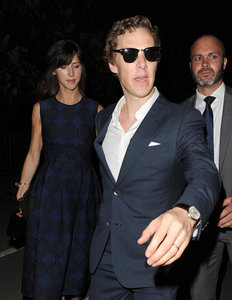 Benedict and Sophie at the art party
