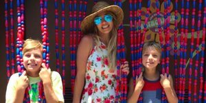 Britney Spears And Her Sons Recreate Her 'Oops... I Did It Again' Album Cover Photo