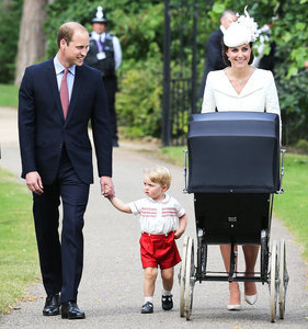 Princess Charlotte's Christening: See Pics of the Royal Family Including Prince George, Kate Middleton, and Prince William!