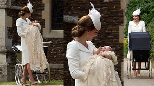 Kate Middleton Wears Alexander McQueen To Princess Charlotte's Christening