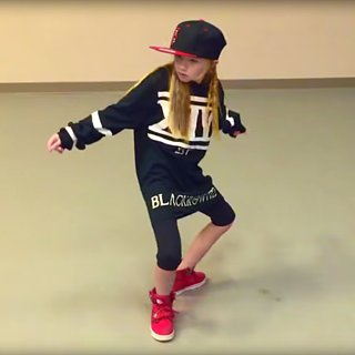 "10-Year-Old Girl Dances to ""Truffle Butter"""