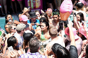 Demi Lovato Shows Us All How To Flawlessly Fall At A Pool Party