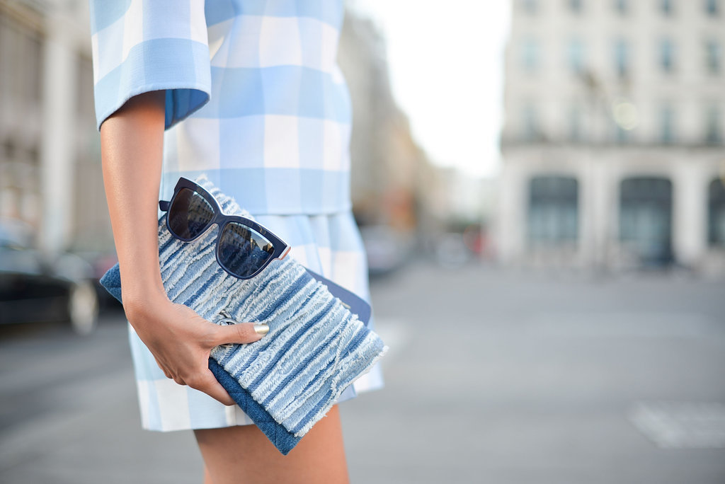 There's nothing chicer than a simple dress, a sleek clutch and the perfect pair of sunglasses.