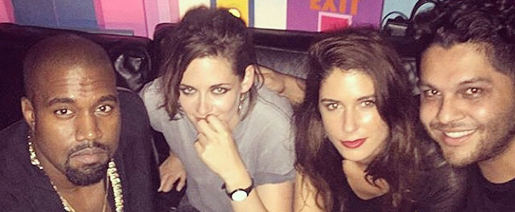 Here's a Photo of Kristen Stewart Just Casually Partying With Kanye West in Paris