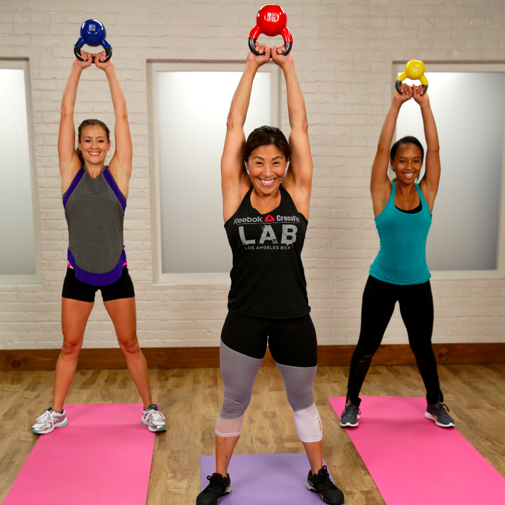 20 Minute Double Kettlebell Workout: Abs, Arms, And Legs: This 20-Minute Kettlebell Workout