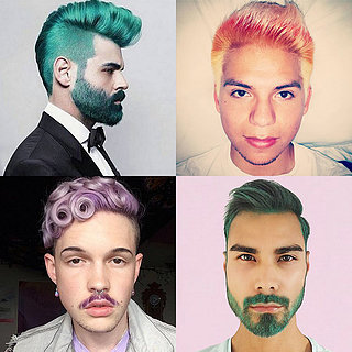21 Real Men Who Rock Rainbow Hair