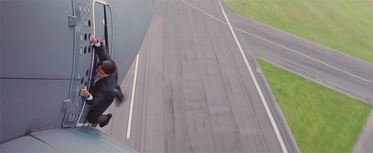 "Tom Cruise Actually Dangled Off an Airplane for Rogue Nation and Was ""Scared Sh*tless"""