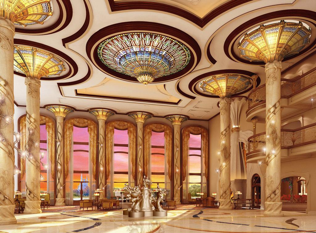 上海迪士尼樂園酒店大堂渲染
