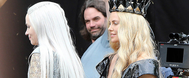 Emily Blunt and Charlize Theron Show Off Their Costumes on The Huntsman Set