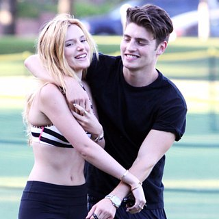 Bella Thorne and Gregg Sulkin Walking Dogs