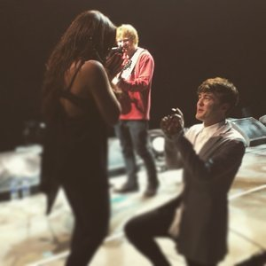 Ed Sheeran Helps Jake Roche Propose to Jesy Nelson
