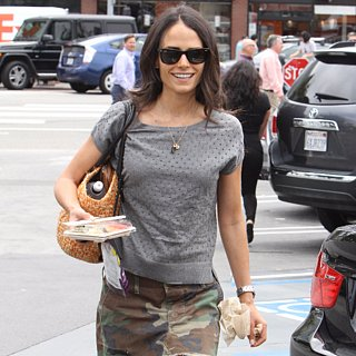 Jordana Brewster Camo Skirt