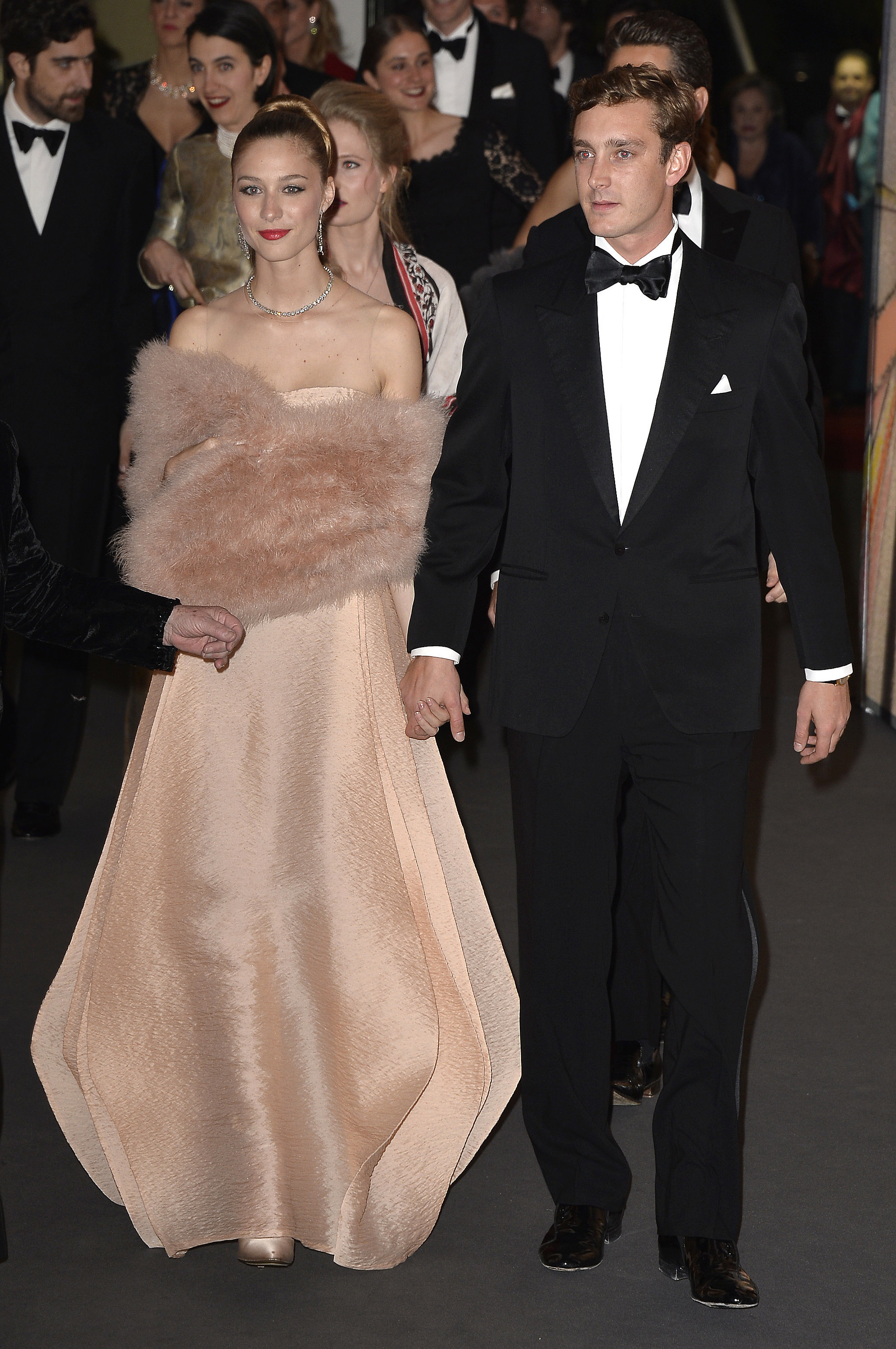pierre and beatrice looked gorgeous arriving at the march
