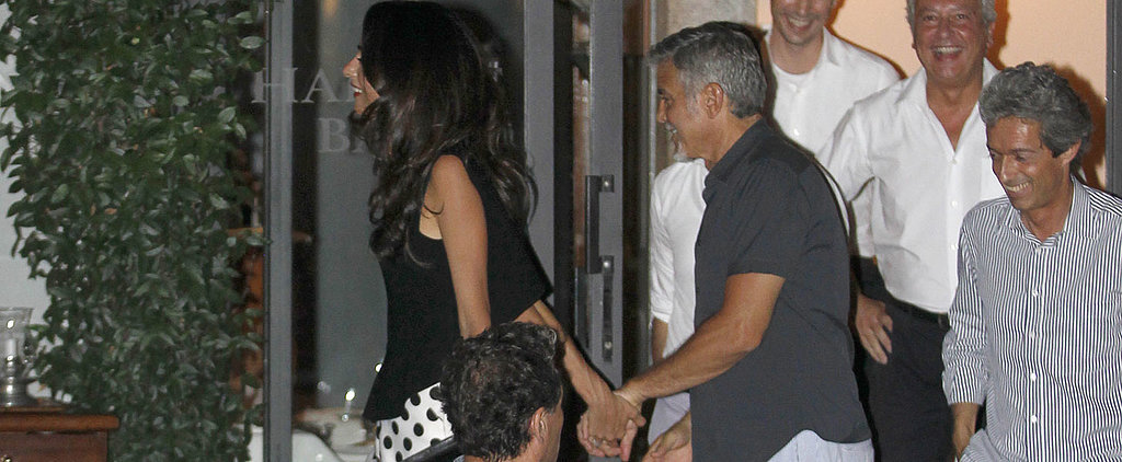 George and Amal Clooney Hold Hands During a Cute Date Night in Italy