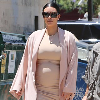 Kim Kardashian Baby Bump Pictures Out With Family July 2015