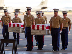 Remains of 36 Marines Killed in Bloody WWII Battle Return Home After More Than 70 Years