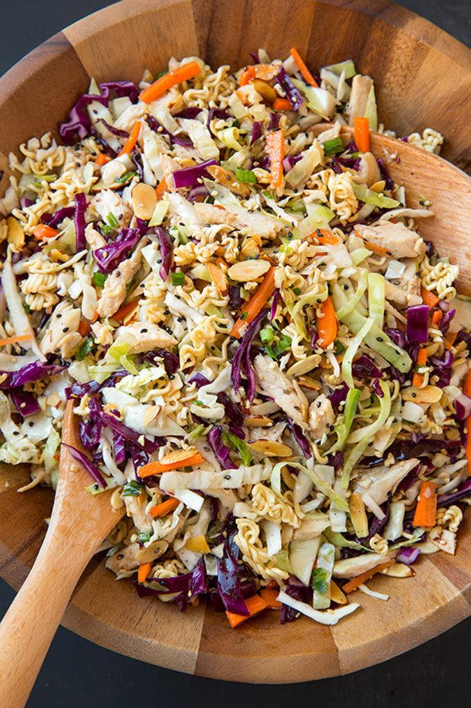 Asian Ramen Chopped Chicken Salad