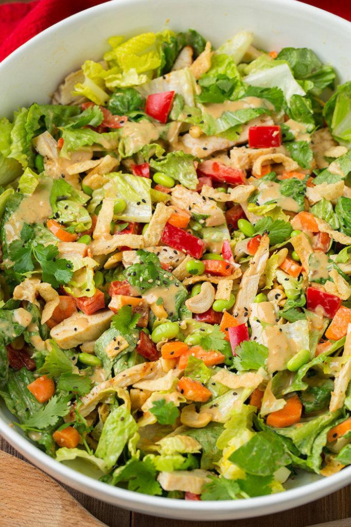 Thai Chicken Salad With Orange Peanut Sauce
