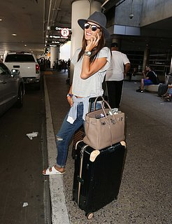 Alessandra Ambrosio Model-Off-Duty Airport Outfit